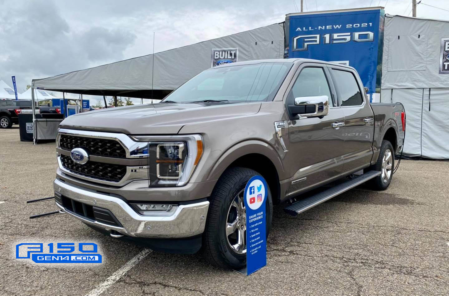 2021 F-150 Stone Gray King Ranch Chrome Front Quarter.jpg