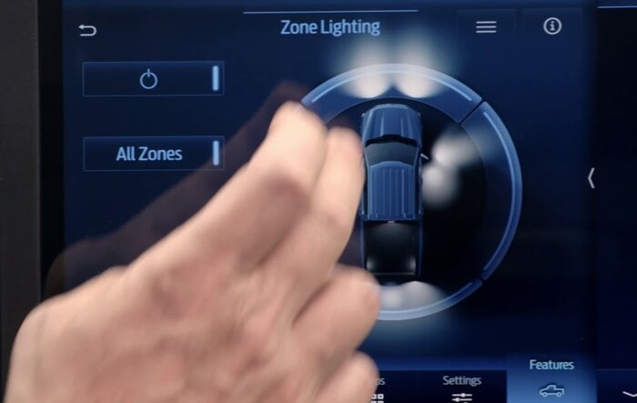 NHTSA SSM 49621 -- 2021 F-150 Battery Draw Possible If Zone Lighting Power Button Left ON