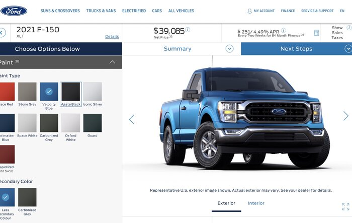 Build & Price Canada Now Live For 2021 F-150