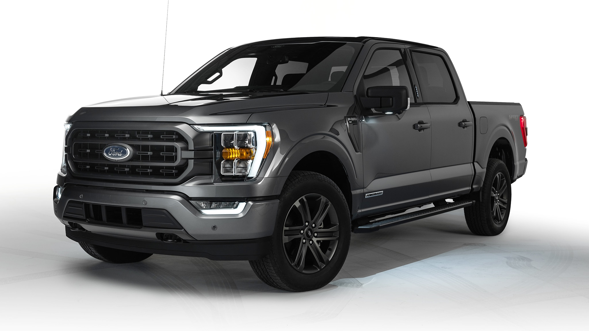 good look at carbonized gray 2021 f150 xlt sport  inside